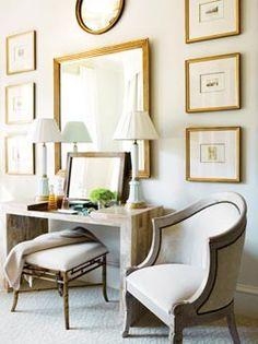 silla y butaca, detalles del respaldo en madera