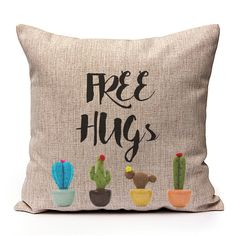 Free Hugs via Sweet Little Sunday. Click on the image to see more! Cushion Cover Pillowcase Pillow quotes