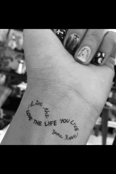 love the infinity tattoo, but not too crazy about the placement of this one..