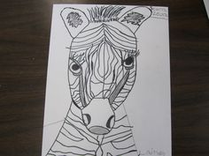 Think Create Art: Zebras- 3rd Grade