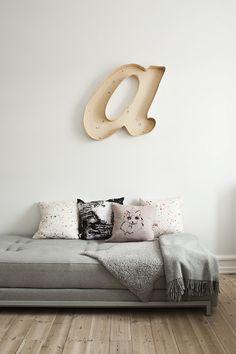big letter - wall art
