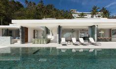 White Design Villa 4   Koh Samui - Ansicht vom Pool © Lesley Fisher. All Rights Reserved.
