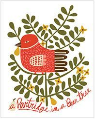 CARDS :: Boxed Notes & Invitations :: holiday :: A Partridge in a Pear Tree - Ecojot - eco savvy paper products