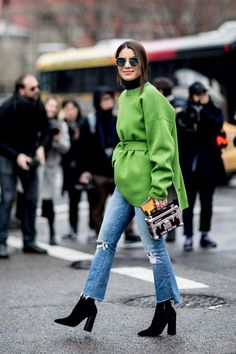 The Best Street Style At New York Fashion Week Autumn Winter 2017