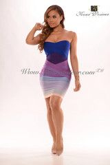 Amber ombre bandage dress http://Kourvosieur.com
