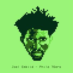 Joel The Process Embiid Pixelated // @joelembiid @sixers #nba #sixers #philadelphia #philadelphia76ers #basketball #pallacanestro #baloncesto #sport #art #illustration #illustagram #sketch #behance #dribbble #portrait #illustrazione #design #graphicdesign #poster #embiid #pixel #pixelart #retro #videogame #vector @rivistanba