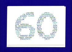 Stilvolle Geburtstagskarte zum 60. Geburtstag! Ich habe diese Karte auch mit einer 50, 65, 70, 75 und 80 - bei Interesse bitte kurze Mail an mich, dann stelle ich das Angebot ein! +Sollte...