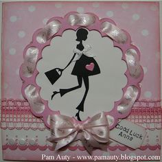 """Good Luck """"Maternity Leave"""" card using Cricut, Gypsy and New Arrivals Cartridge Baby Shower Cards, Baby Cards, Mat Leave, Shower Bebe, Good Luck, Homemade Cards, I Card, Making Ideas, Card Making"""