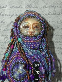 Sale this weekend only Spirit Beaded Shaman Doll by by meinoel, $220.00--so unique and beautiful!