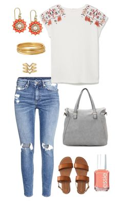"""Untitled #426"" by kmysoccer on Polyvore featuring H&M, MANGO, 2028, Bold Elements, Aéropostale, Urban Expressions, Essie and Stella & Dot"