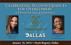 "I am honored to be on the production team and one of the event coordinators for Pat Smith's ""Celebrating Second Chance Overcomer's"" by Treasure You! Not to mention, the keynote speaker is Robin Roberts of Good Morning America! For more information, click here:  #TYSC"