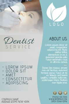 dentist small business flyer template | PosterMyWall