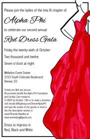 Red dress gala logo