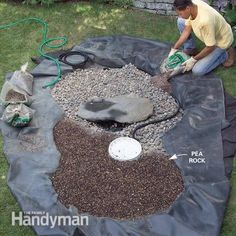 Gravel Backyard Ideas | How to Build a Low-Maintenance Water Feature | The Family Handyman