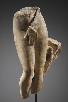 A Torso of Venus. H. 21 cm. Marble. Roman, 1st-2nd cent. A.D.