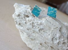 Turquoise stud earrings turquoise earrings by PanachebyAmanda