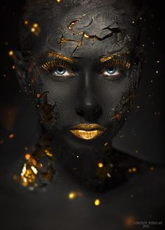 black and gold photography African Beauty, African Art, Creative Photography, Portrait Photography, Black Women Art, Black Is Beautiful, Simply Beautiful, Face Art, Belle Photo