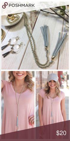 Vegan suede and chain tassel necklace Vegan suede and chain tassel necklace Infinity Raine Jewelry Necklaces