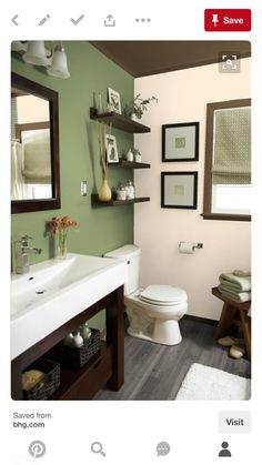 green and brown bathroom ideas | chocolate brown and green