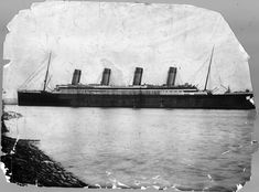 This vintage print shows the Titanic shortly before leaving on her maiden voyage in 1912. (New York Times Archives) #