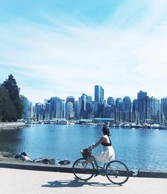 The four best bike routes in Vancouver, Canada: The Stanley Park Loop, The False Creek Seawall, The Beach Route, and The Adanac Route. Toronto, Vancouver Seattle, Stanley Park Vancouver, Vancouver Travel, Vancouver British Columbia, Vancouver Island, Granville Island Vancouver, Vancouver Gastown, Vancouver Beach