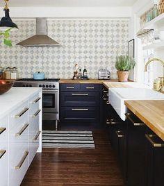 Cocina moderna y vintage