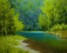 ©2012 Paula Ann Ford, Hidden Place-Turquoise Waters, Oils on Raymar panel, 8