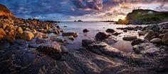 Cornwall - Priest Cove Panorama von Michael Breitung