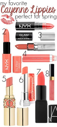 Cayenne Lip Colors (Love all but the elf one- that line isn't very moisturizing or long lasting)