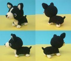 Welsh Corgi Puppy patrón de ganchillo PDF por jaravee en Etsy