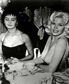 Sophia Loren and Jayne Mansfield in 1950