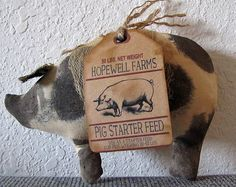 Hey, I found this really awesome Etsy listing at https://www.etsy.com/listing/184158192/handmade-primitive-pigs-spotted-pig-cave