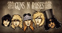 How to Draw Guns N Roses, Step by Step, Music, Pop Culture, FREE ...