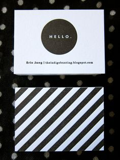 black & white business cards.
