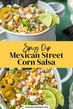 This amazing Mexican Street Corn Salsa recipe works for just about every occasion! Make it for Cinco de Mayo, for tailgating, for Taco Night, or for a simple summer appetizer. This salsa is filled with roasted corn, feta, lime juice, sour cream, cilantro, pico de gallo, and more! #mexicanstreetcorn #easyappetizer #cincodemayo #roastedcorn Spicy Corn Dip, Corn Salsa, Corn Recipes, Easy Chicken Recipes, Mexican Street Corn, Roasted Corn, Best Side Dishes, Salsa Recipe, Game Day Food