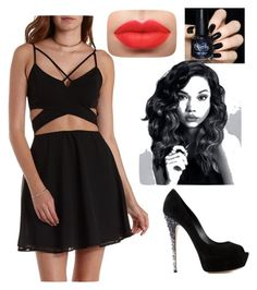 """""""Let's Throw a Party"""" by maisiemoochoo ❤ liked on Polyvore featuring Charlotte Russe and Casadei"""