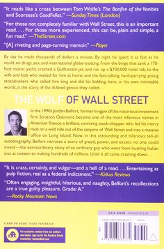 The Wolf of Wall Street: Jordan Belfort: 9780553384772: Amazon.com: Books