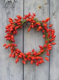 2013  Christmas door  wreath,Christmas fruit garland, 2013 Christmas door decor #Christmas #Door #wreath www.loveitsomuch.com