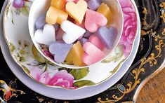Homemade Sugar Cubes/hearts From: Ricomincio Dal Tè, please visit Eat Your Books, Cube Recipe, Valentines Breakfast, Tea And Crumpets, Sugar Cubes, High Tea, Afternoon Tea, Love Food, Sweet Tooth