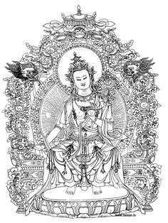 coloring bouddha
