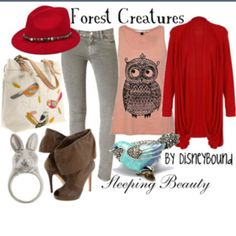 Woodland Creatures from Sleeping beauty Disneybound Collection I want that shirt so much