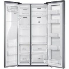 Samsung 21.5 cu. ft. Side by Side Refrigerator in Stainless Steel, Counter Depth with Food Showcase Design-RH22H8010SR at The Home Depot $1996