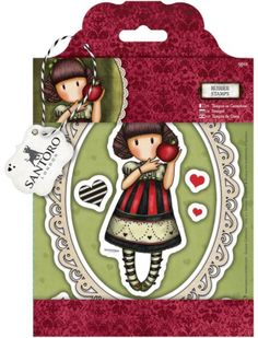 """Santoro/Docrafts Gorjuss """"Dear Apple"""" Rubber Stamp Set *PRE-ORDER*.   THIS IS A PRE-ORDER. You will be billed for shipping when the items arrive unless your order qualifies for free shipping. Please DO NOT use discount codes on pre-orders as they are for the shipping.Estimated ship date is 1 week from the order date.    9 Stamps included in the set"""