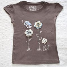Camiseta Observando desde las flores marrón, Niños y bebé, Ropa, Ropa, Camisetas, Crochet, Ropa, Fechas señaladas, Cumpleaños