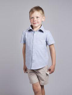 Blue summer dress shirt for boys Blue Summer Dresses, Kids Clothing, Dress Shirt, Boy Or Girl, Kids Outfits, Men Casual, Trending Outfits, Boys, Mens Tops