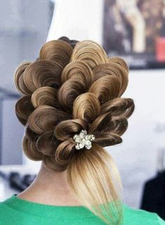 Wedding bridal hairup