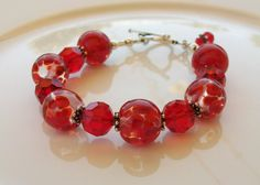 Swarovski Crystal and Lampwork Beaded Sterling Silver by Alliaks, $65.00