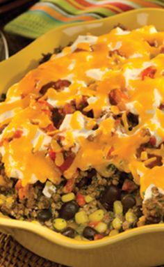 Best part of this yummy Mexican Beef & Corn Casserole recipe? It'll taste even better mañana!