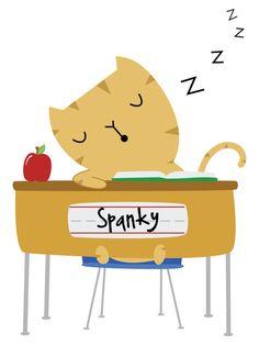 School Time Spanky - August Art Print