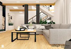 Salon styl Nowoczesny - zdjęcie od design me too Couch, Living Room, Furniture, African Style, Design, Home Decor, Settee, Decoration Home, Sofa